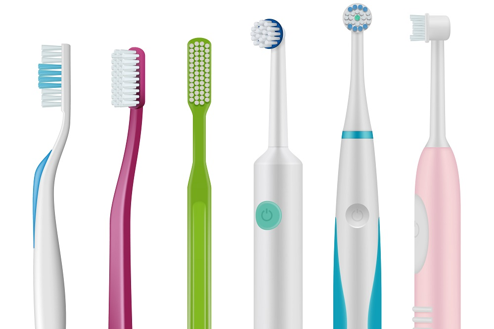 Brush for teeth mechanical and electrical type for daily dental hygiene